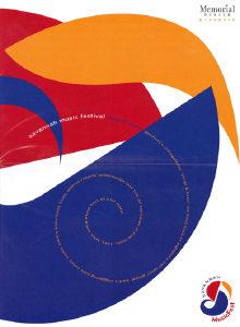 Program Book Cover 2003