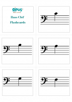 Bass Clef Note Naming Cards