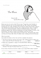 Blues Introduction Reed _ Write Worksheet