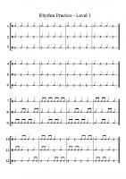 Rhythm Practice Levels