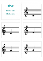 Treble Clef Note Naming Cards
